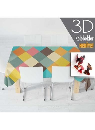 Artikel Renkli Kare Desenleri Masa Örtüsü 140x160cm Renkli